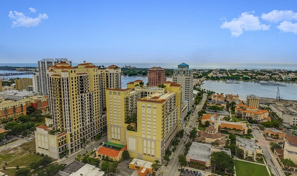 One City Plaza - 801 S Olive Ave Unit 430 - Aerial Photo 1